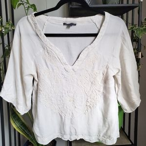 aeo embroidered blouse |  xs